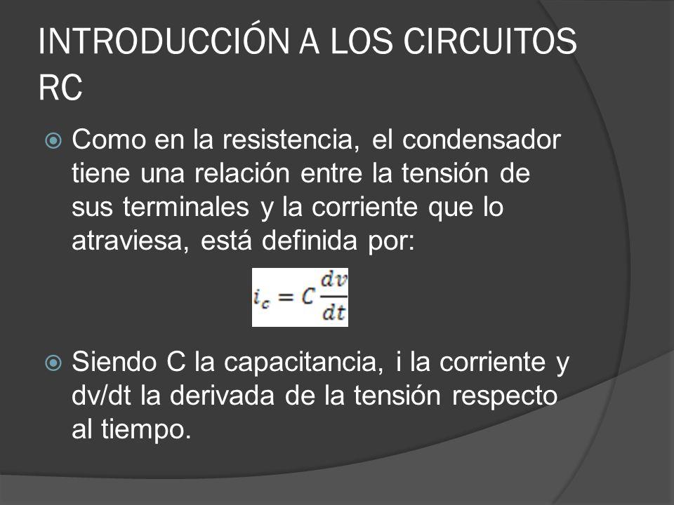 INTRODUCCIÓN A LOS CIRCUITOS RC