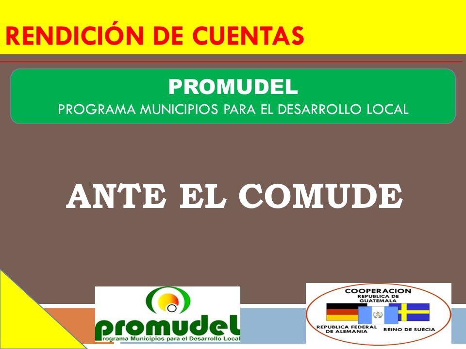 PROGRAMA MUNICIPIOS PARA EL DESARROLLO LOCAL
