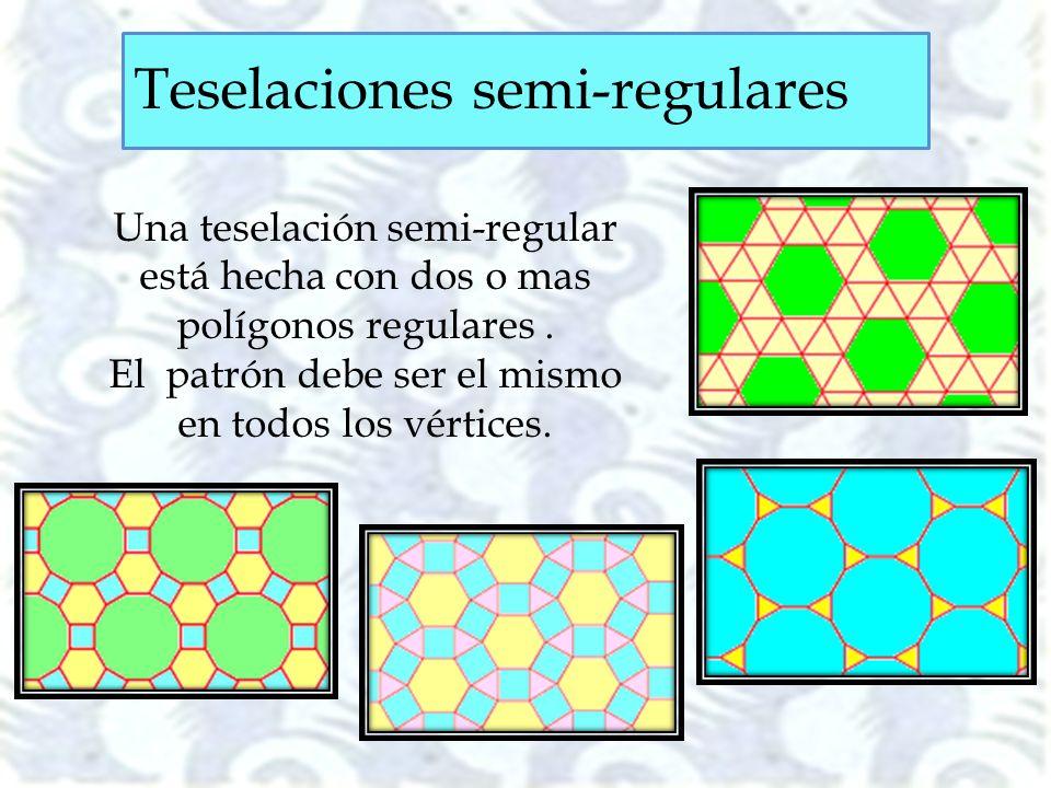 El patrón debe ser el mismo en todos los vértices.
