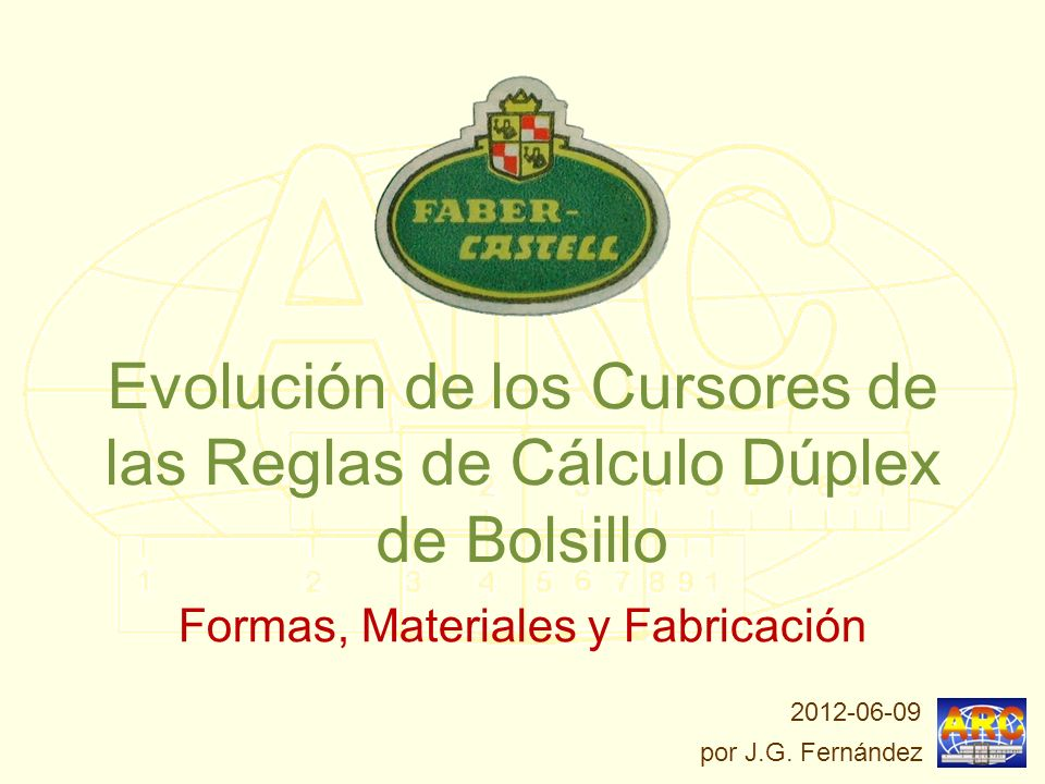 Evolución de los Cursores de las Reglas de Cálculo Dúplex de Bolsillo