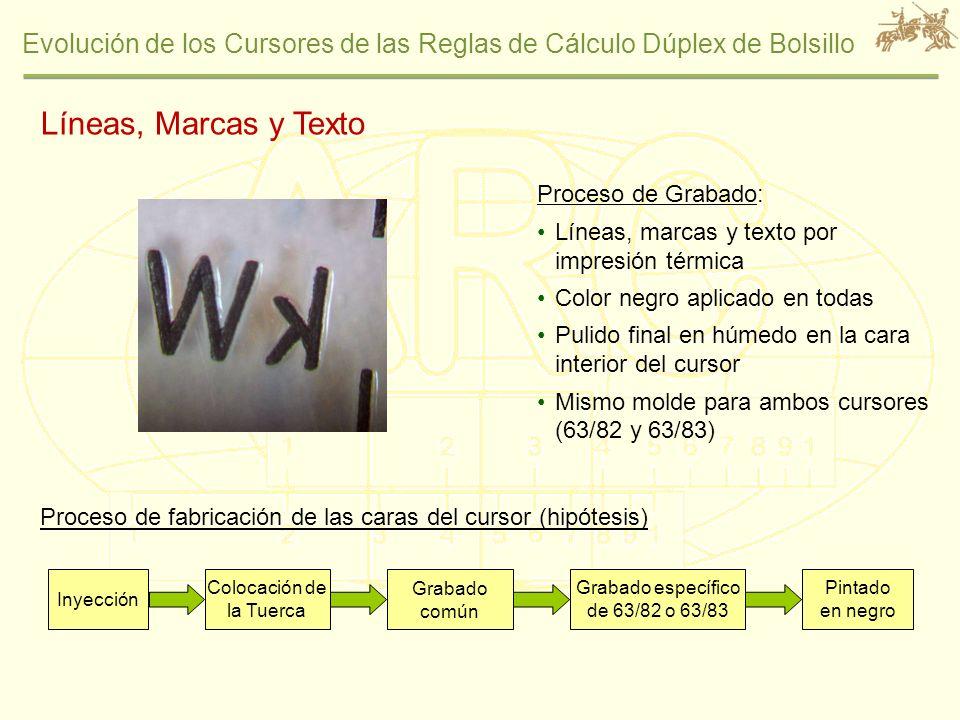Líneas, Marcas y Texto Proceso de Grabado: