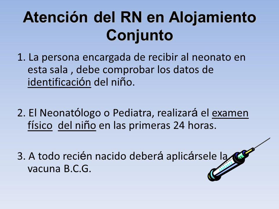 Atención del RN en Alojamiento Conjunto