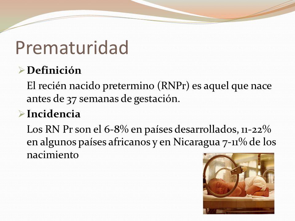 Prematuridad Definición