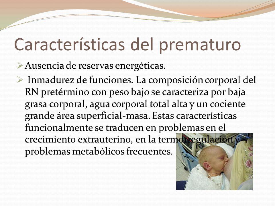 Características del prematuro