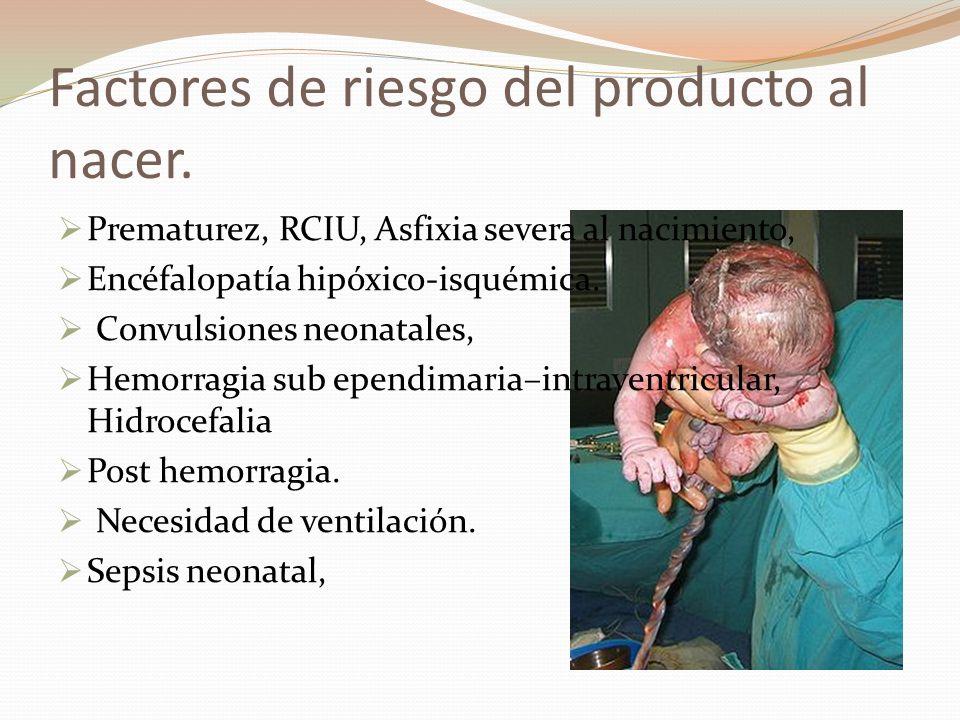 Factores de riesgo del producto al nacer.