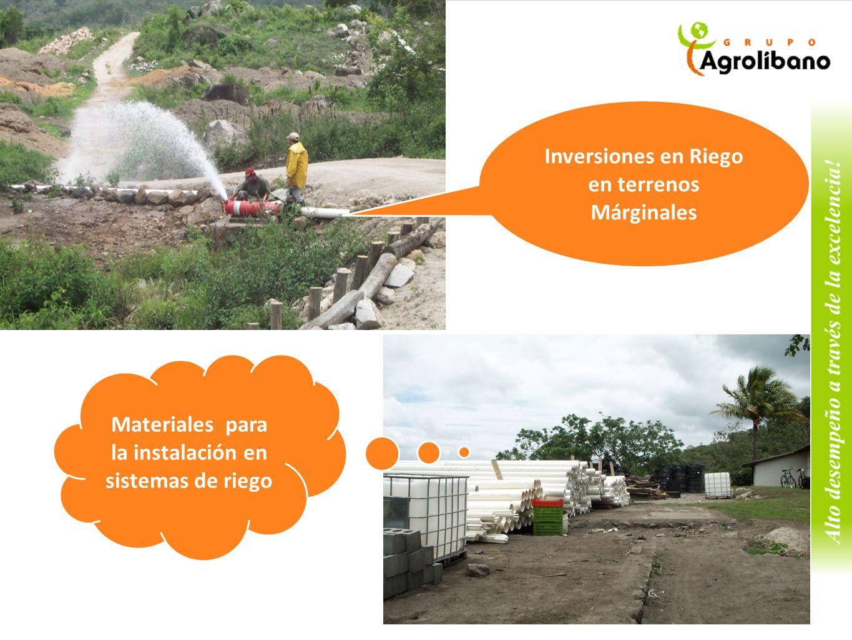 Inversiones en Riego en terrenos Márginales