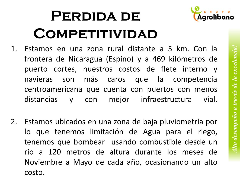 Perdida de Competitividad