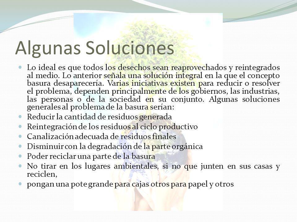 Algunas Soluciones