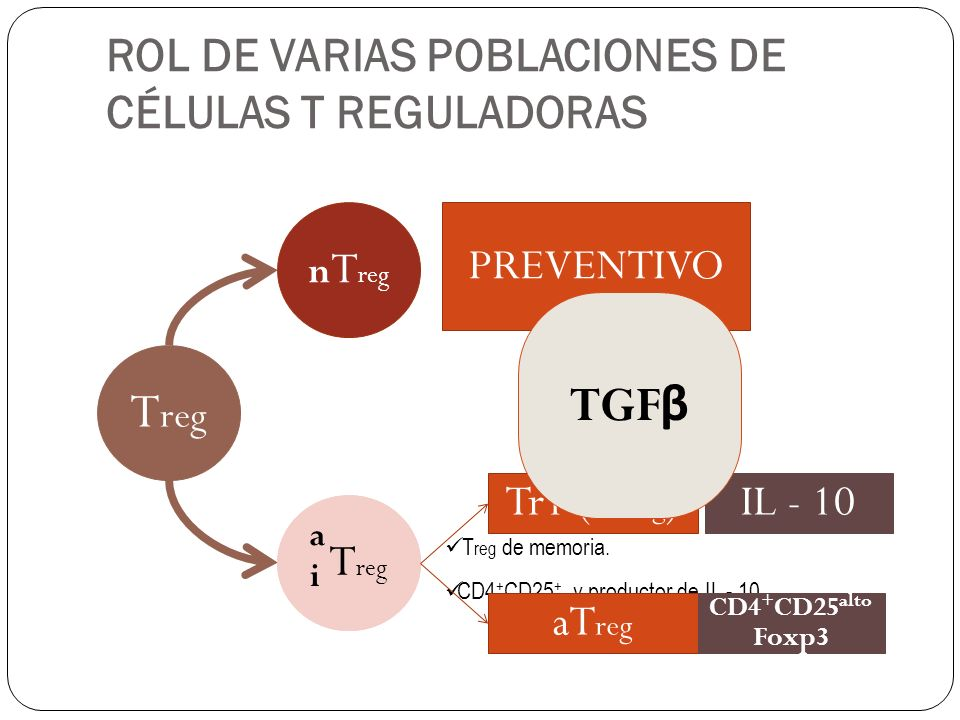 ROL DE VARIAS POBLACIONES DE CÉLULAS T REGULADORAS