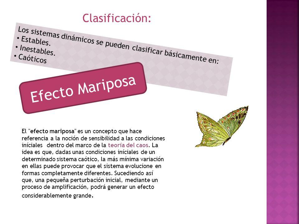 Efecto Mariposa Clasificación: