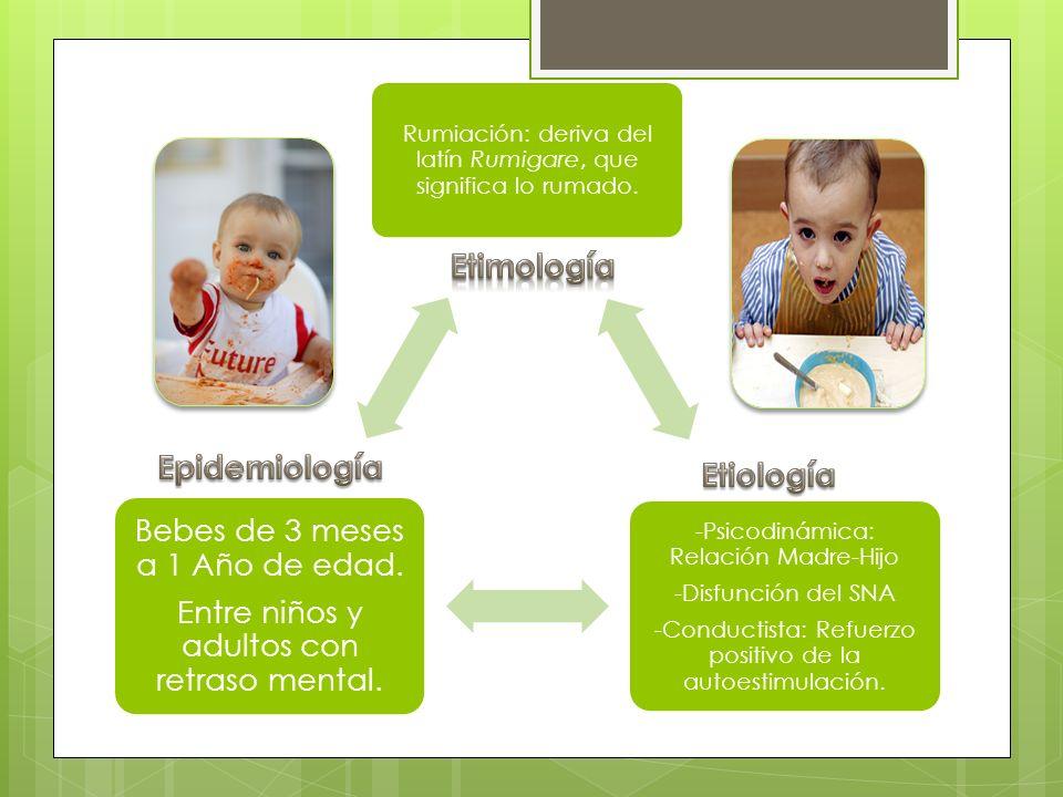 Etimología Epidemiología Etiología -Psicodinámica: Relación Madre-Hijo