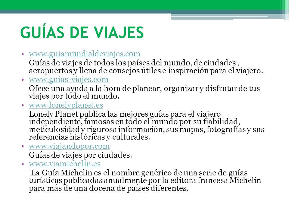 Guías de viajes www.guiamundialdeviajes.com