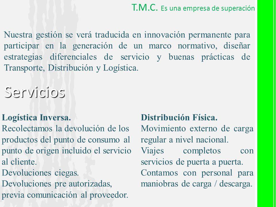 Servicios T.M.C. Es una empresa de superación