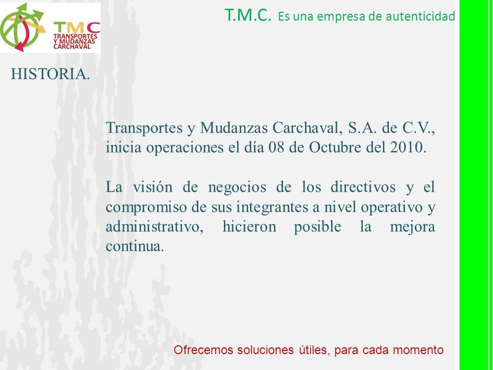 T.M.C. Es una empresa de autenticidad