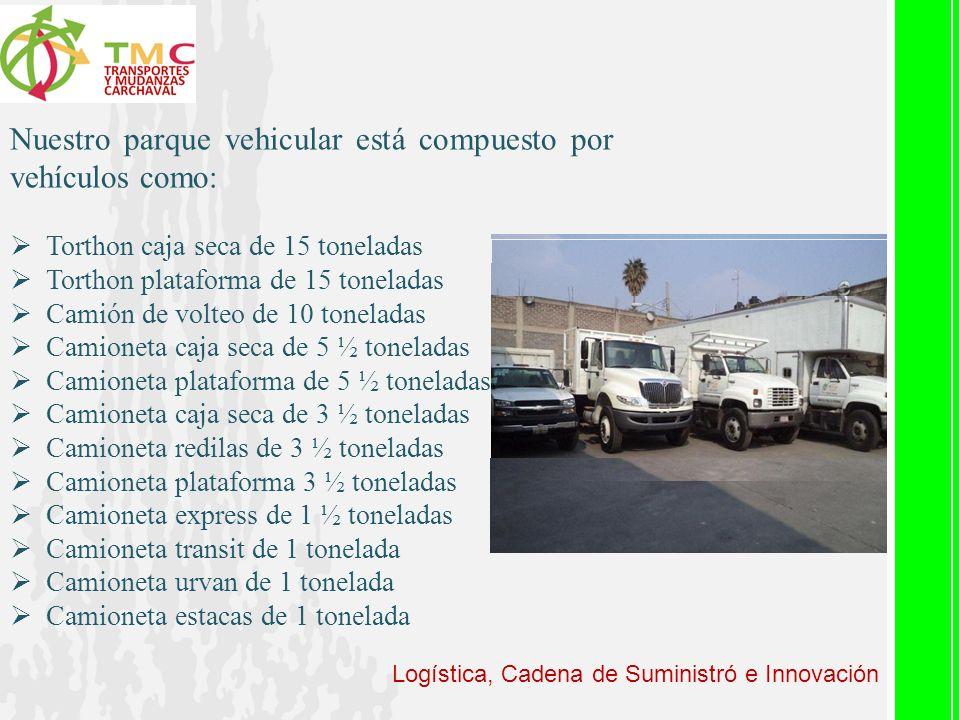 Nuestro parque vehicular está compuesto por vehículos como: