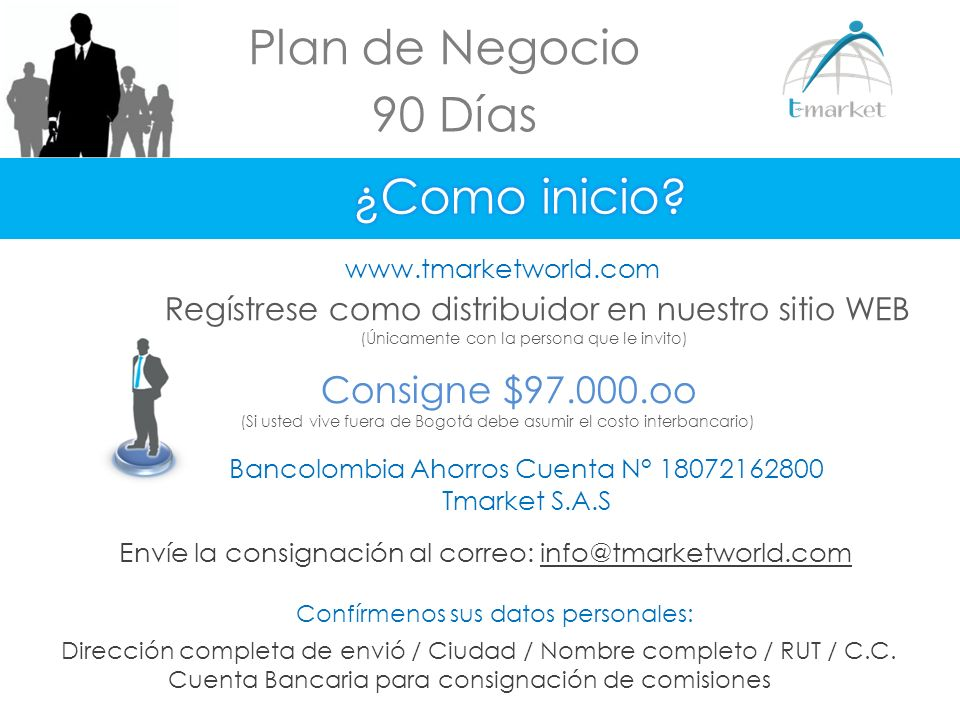 Plan de Negocio 90 Días ¿Como inicio Consigne $97.000.oo