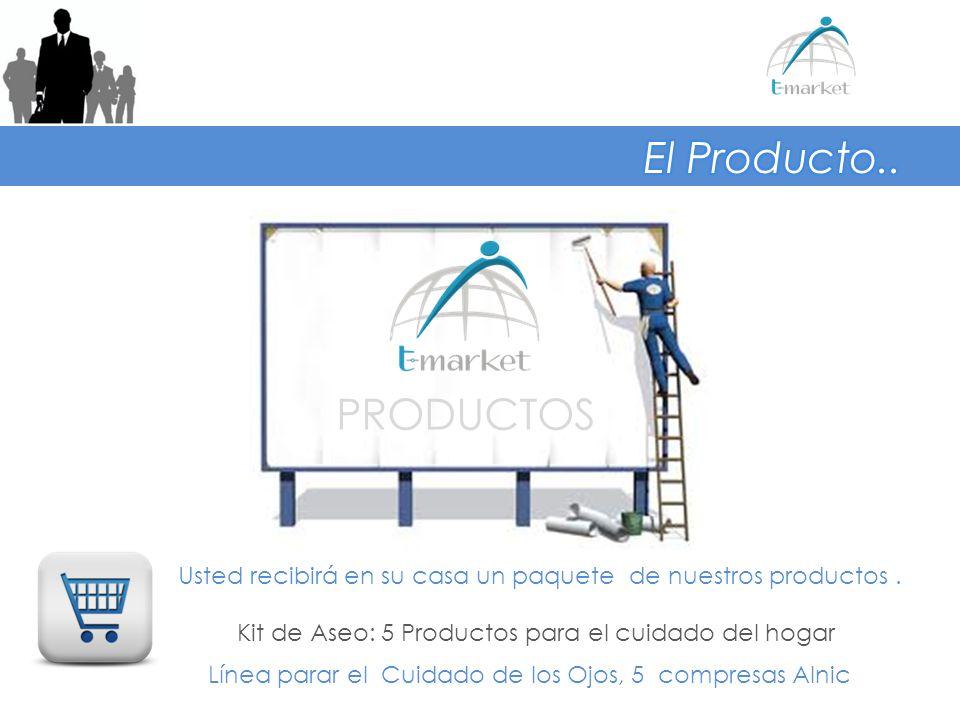El Producto.. PRODUCTOS. Usted recibirá en su casa un paquete de nuestros productos . Kit de Aseo: 5 Productos para el cuidado del hogar.