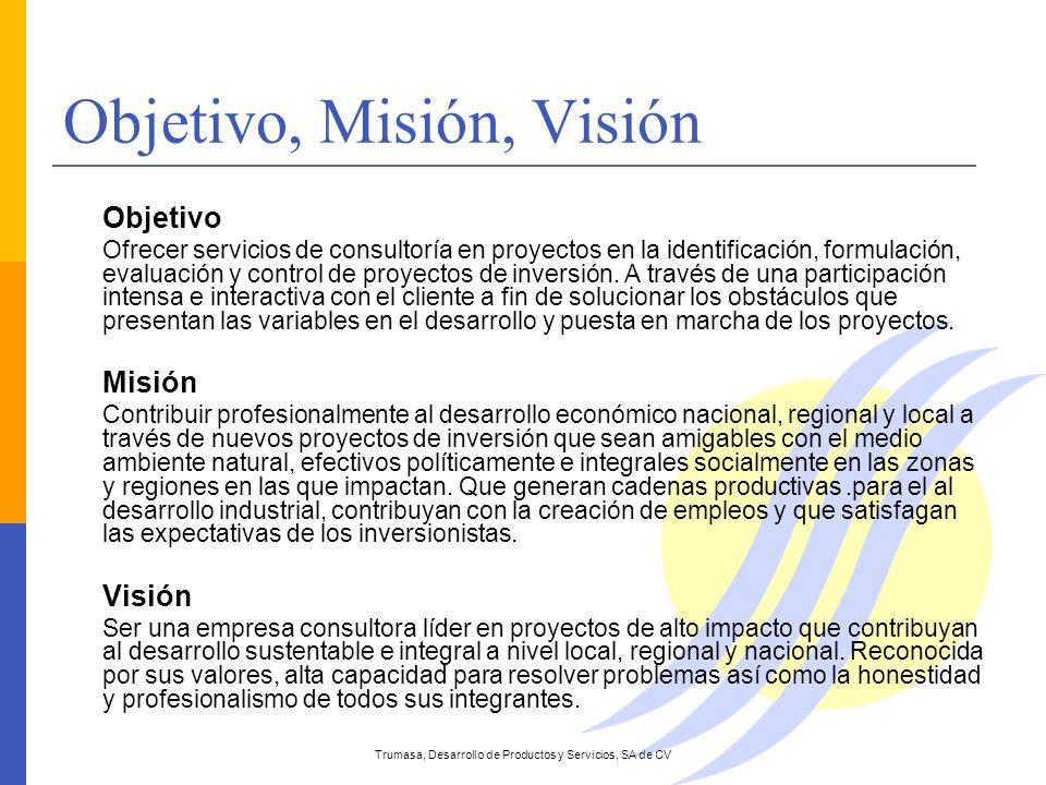 Objetivo, Misión, Visión