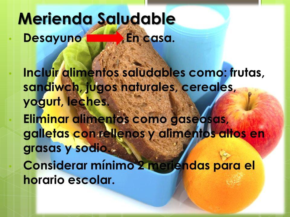 Merienda Saludable Desayuno En casa.