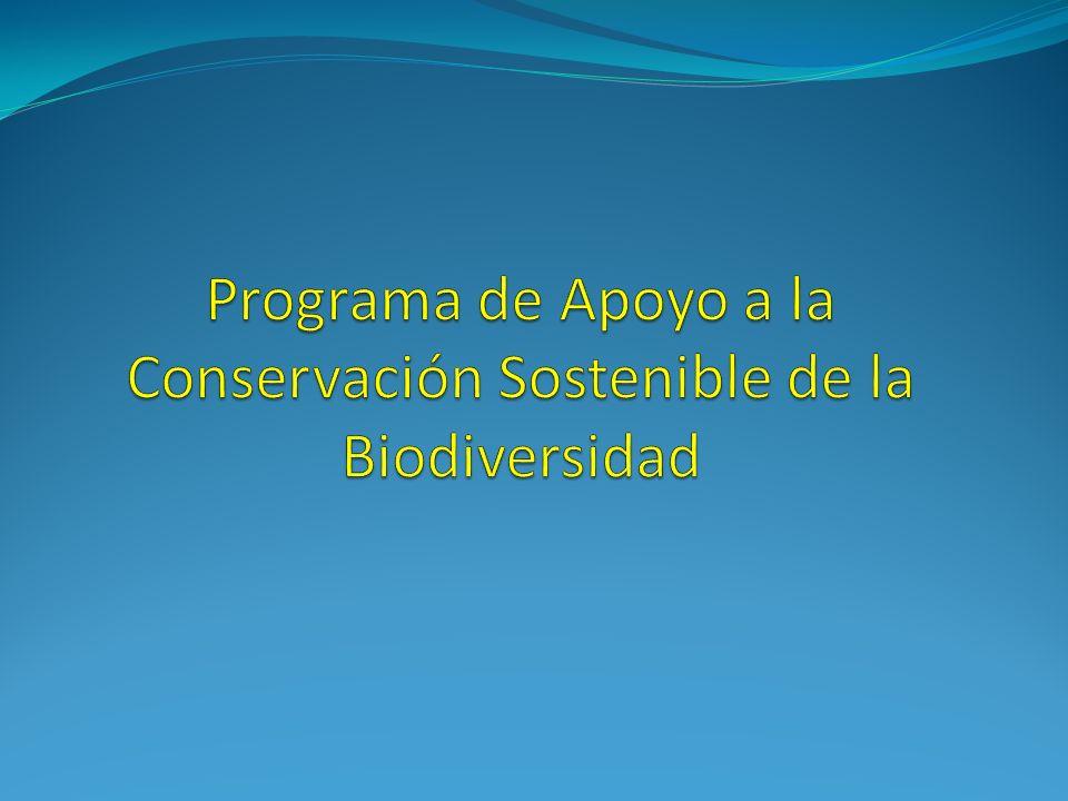 Programa de Apoyo a la Conservación Sostenible de la Biodiversidad