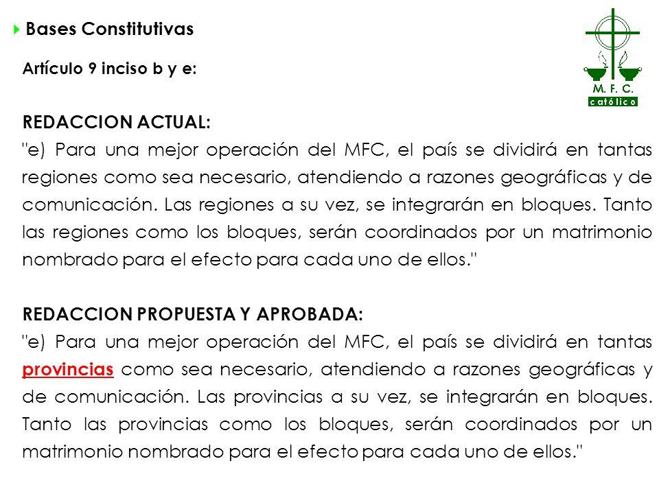 REDACCION PROPUESTA Y APROBADA: