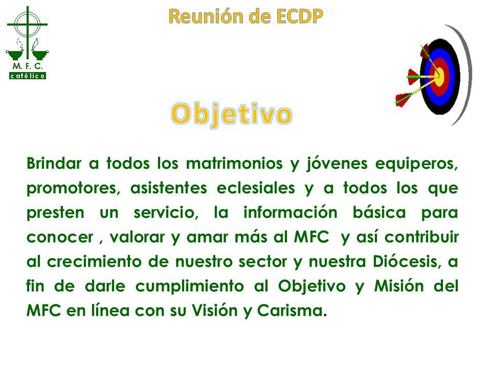Objetivo Reunión de ECDP