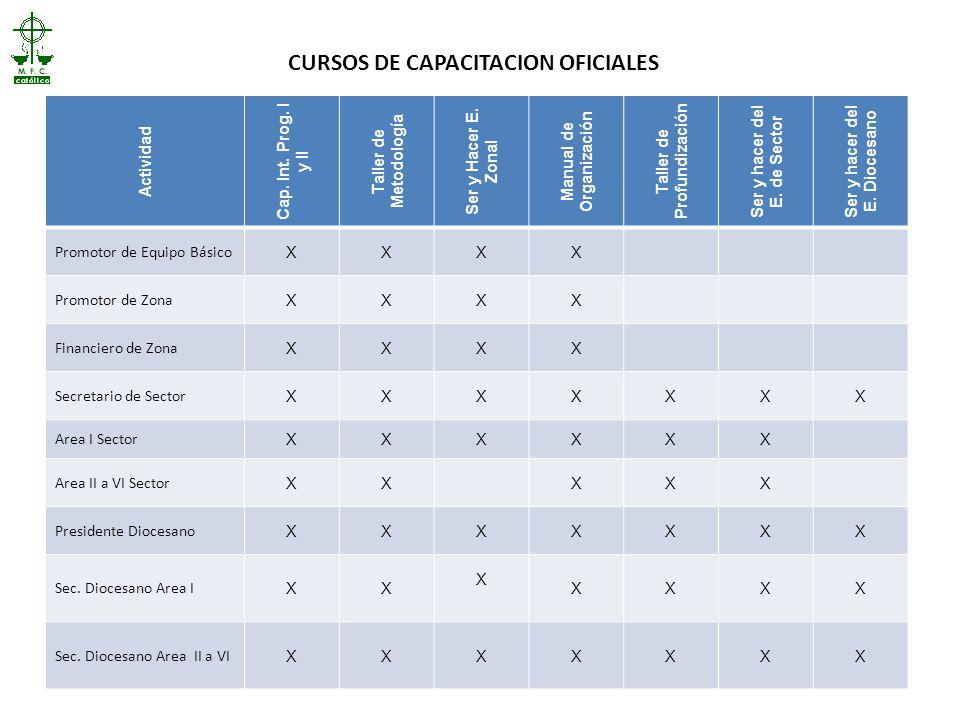 CURSOS DE CAPACITACION OFICIALES