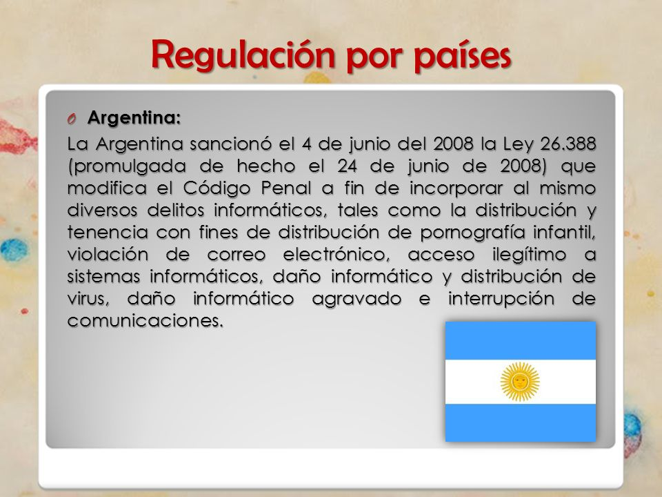 Regulación por países Argentina: