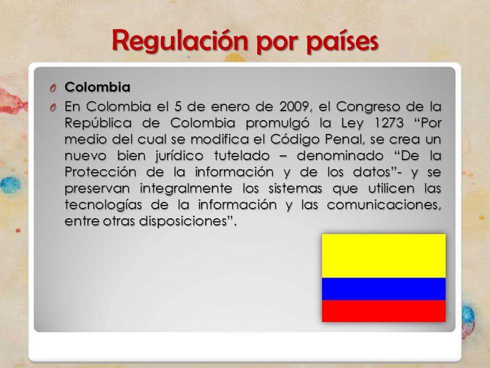 Regulación por países Colombia