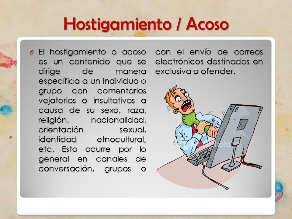 Hostigamiento / Acoso