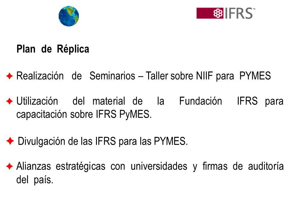  Divulgación de las IFRS para las PYMES.