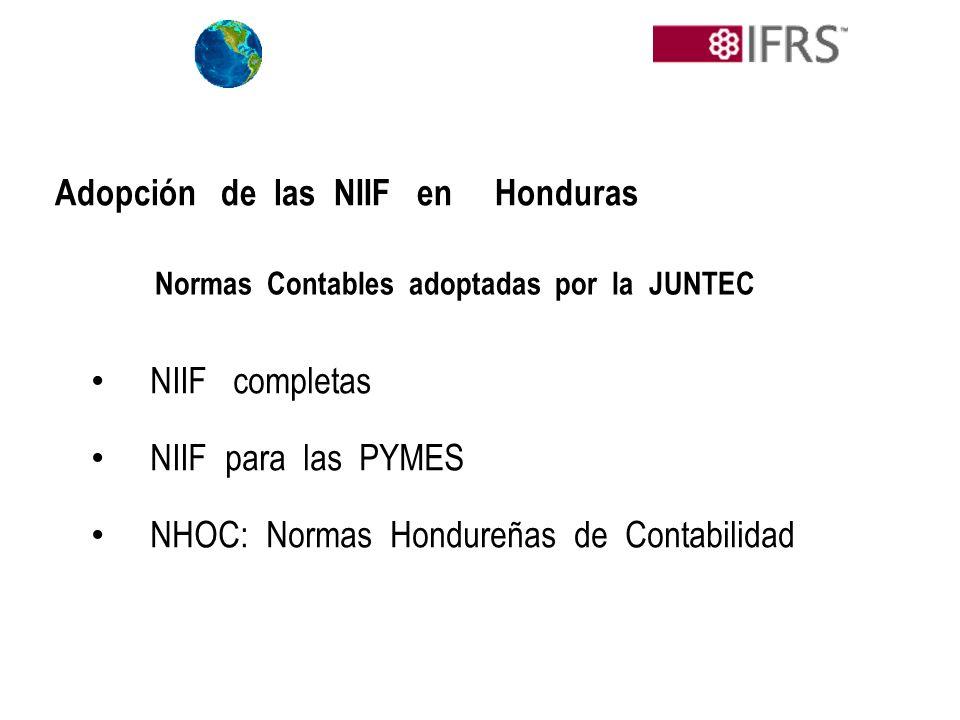 Normas Contables adoptadas por la JUNTEC