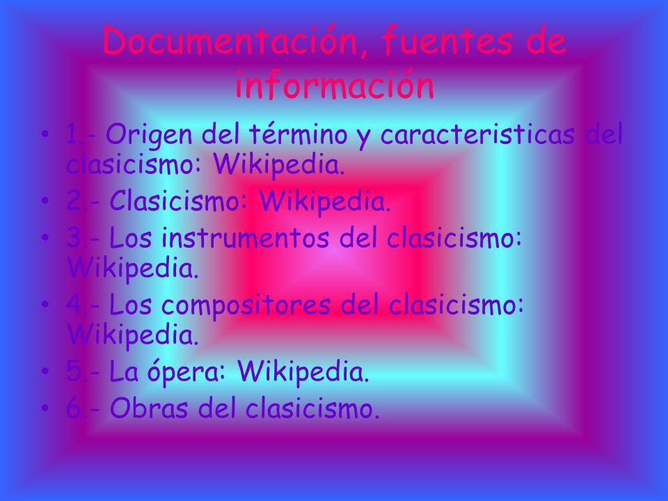 Documentación, fuentes de información