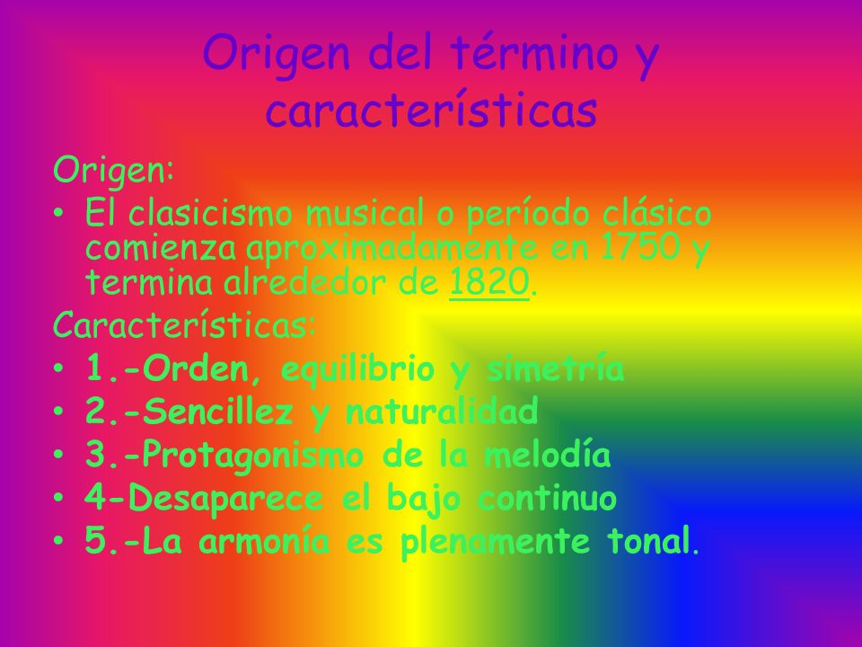 Origen del término y características