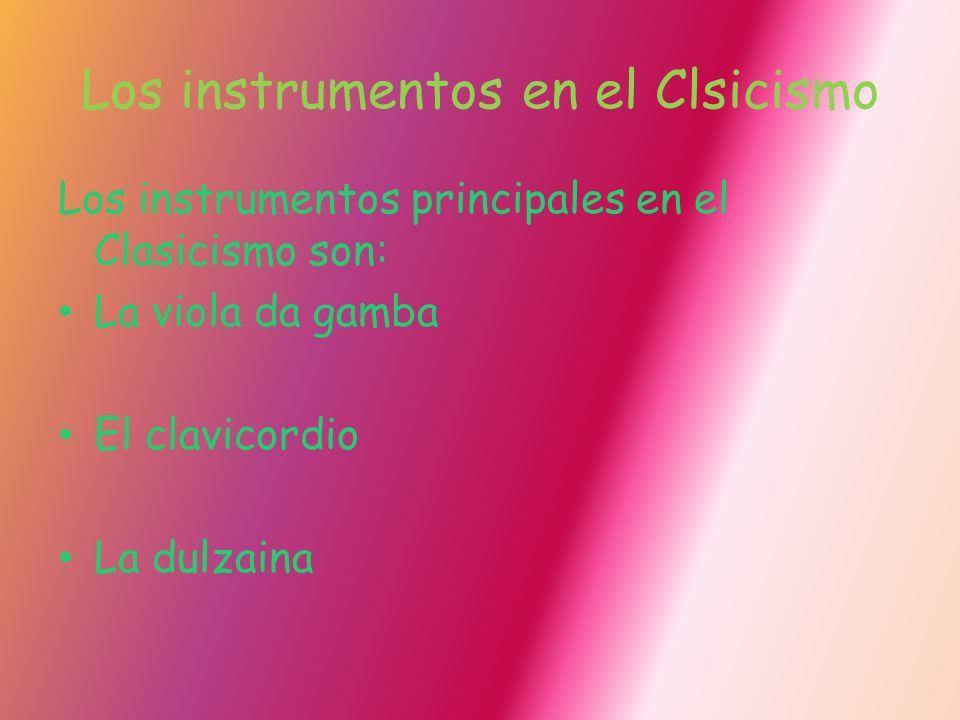 Los instrumentos en el Clsicismo