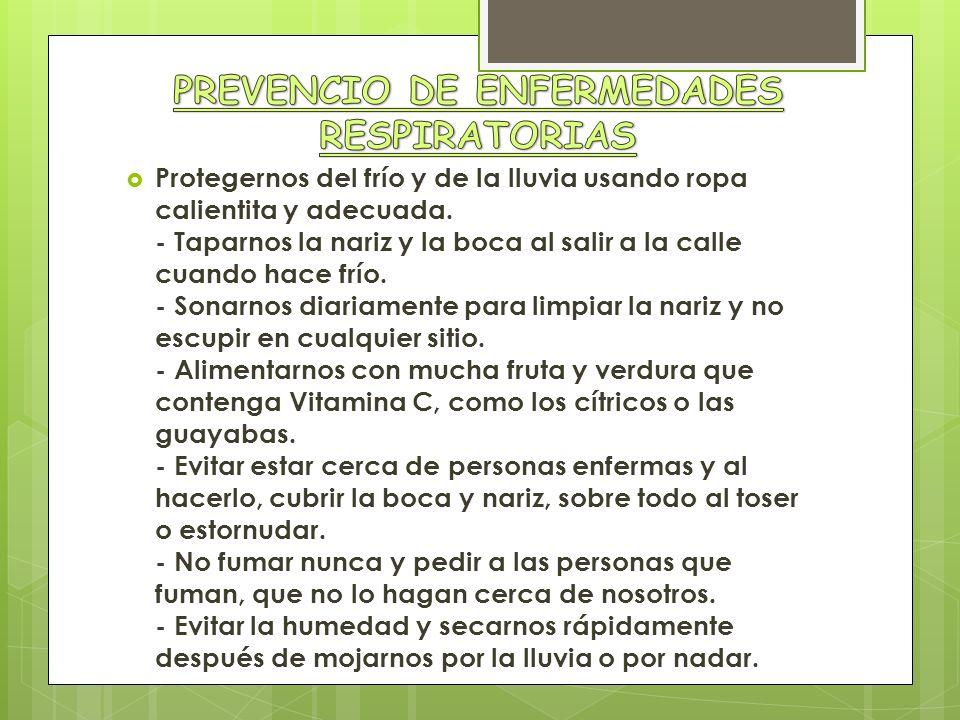 PREVENCIO DE ENFERMEDADES RESPIRATORIAS