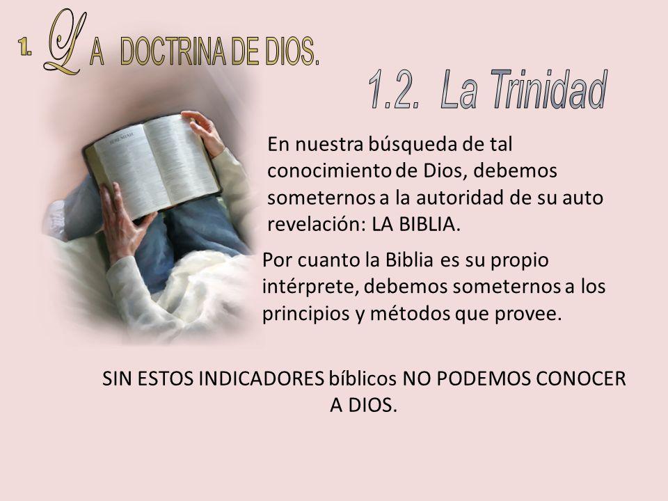 SIN ESTOS INDICADORES bíblicos NO PODEMOS CONOCER A DIOS.