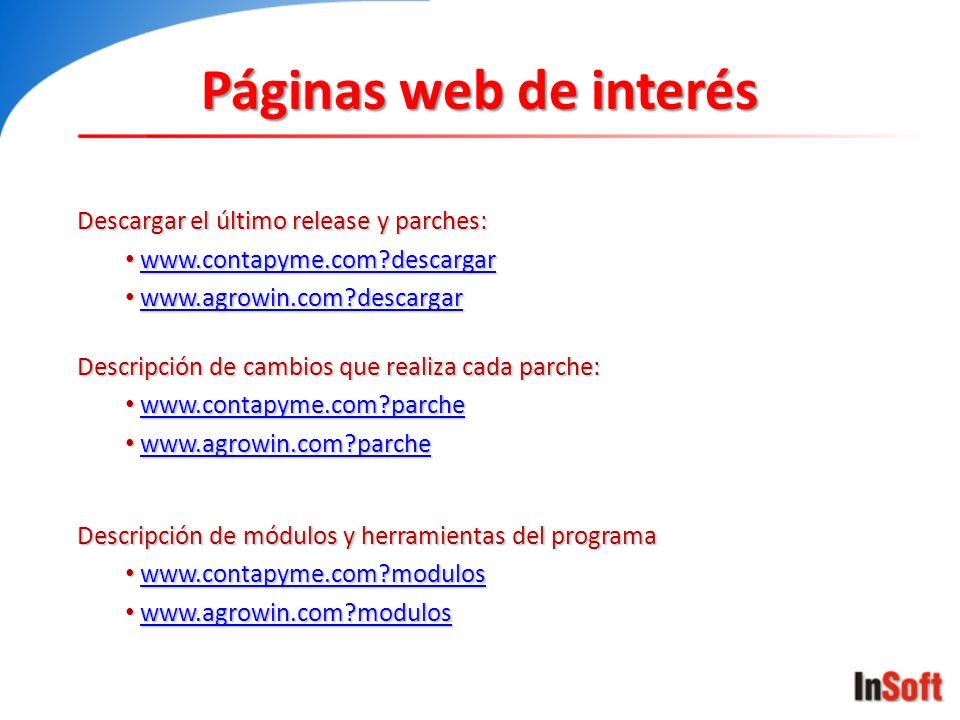 Páginas web de interés Descargar el último release y parches: