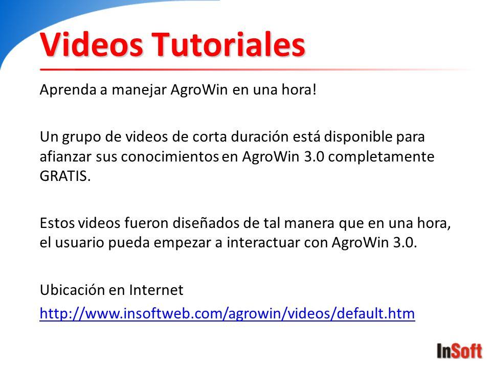 Videos Tutoriales Aprenda a manejar AgroWin en una hora!