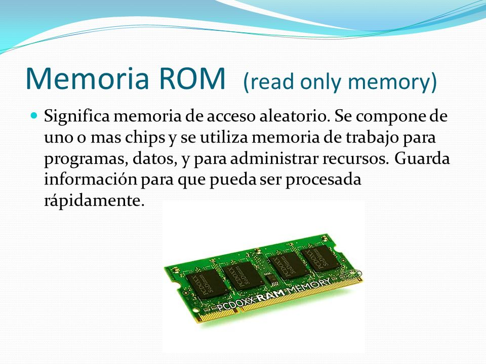 Memoria ROM (read only memory)