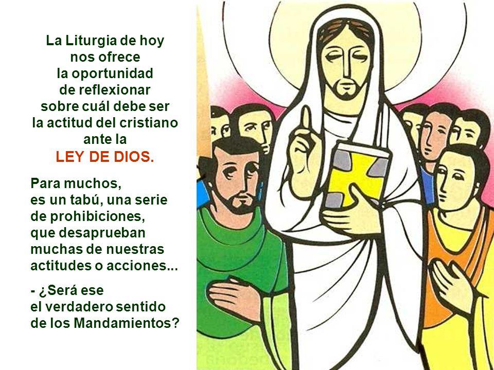 La Liturgia de hoy nos ofrece la actitud del cristiano ante la