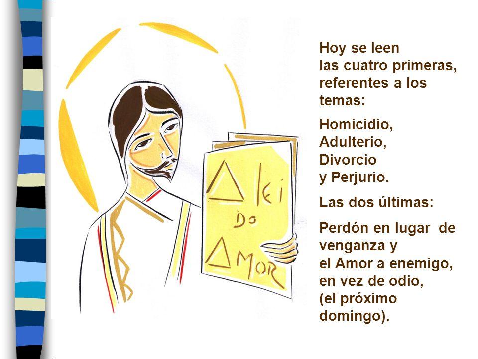Hoy se leen las cuatro primeras, referentes a los temas: Homicidio, Adulterio, Divorcio. y Perjurio.