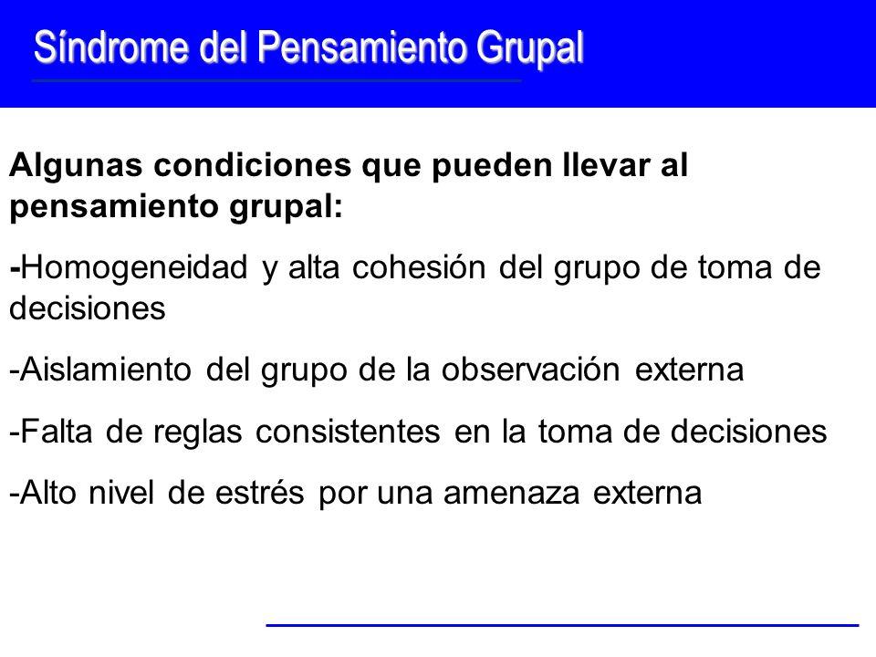 Síndrome del Pensamiento Grupal