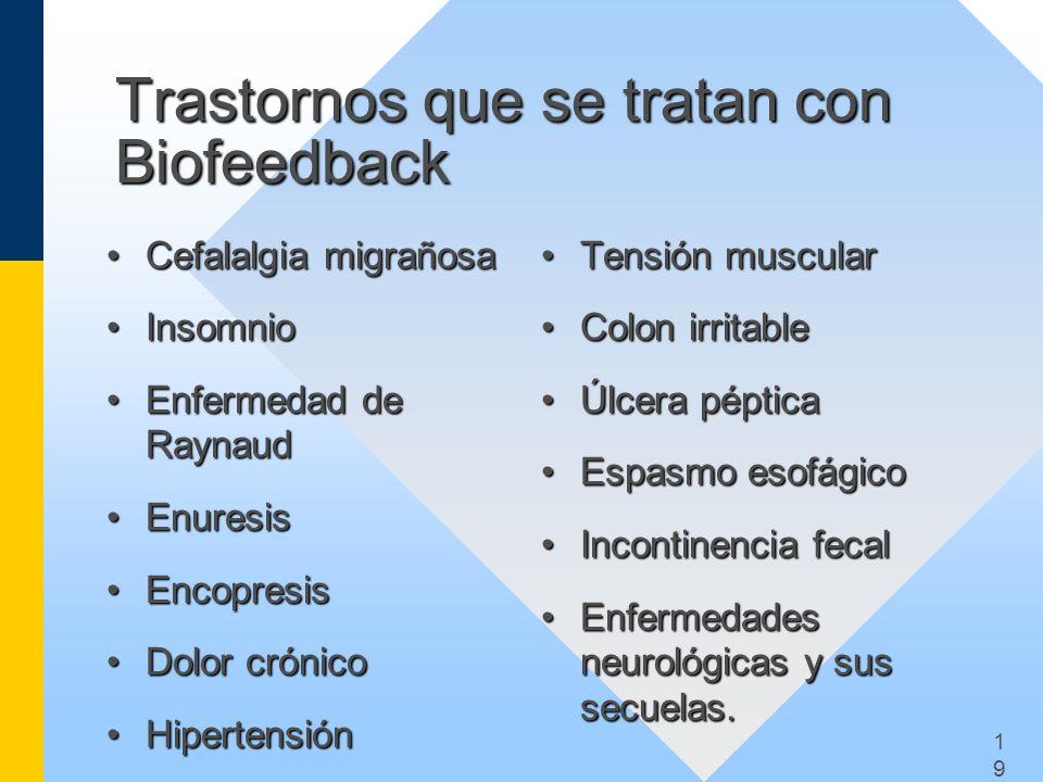Trastornos que se tratan con Biofeedback