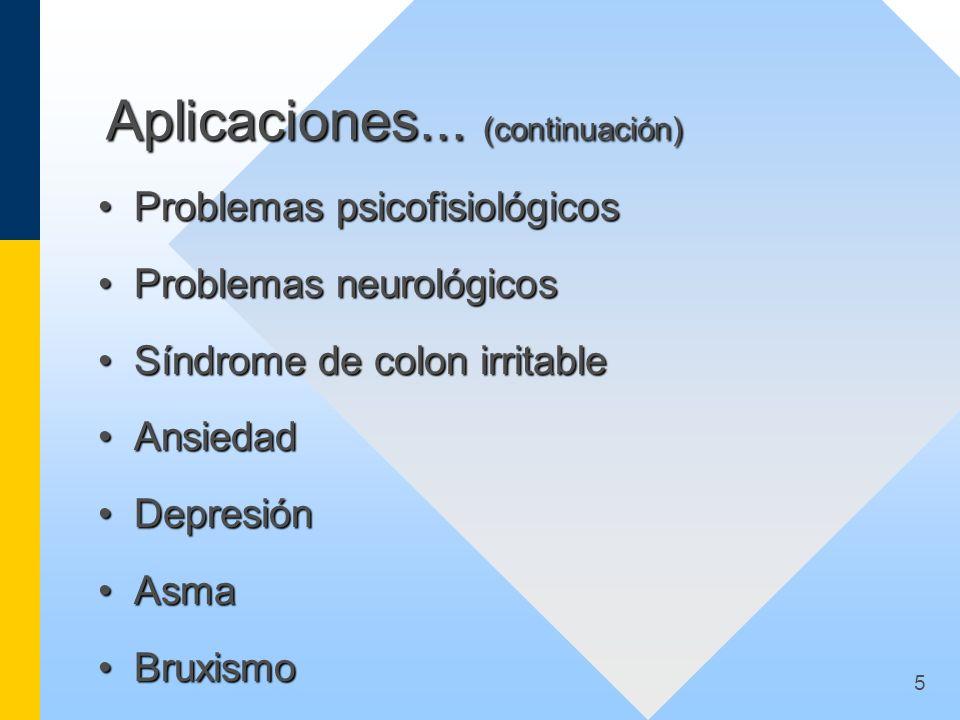 Aplicaciones... (continuación)