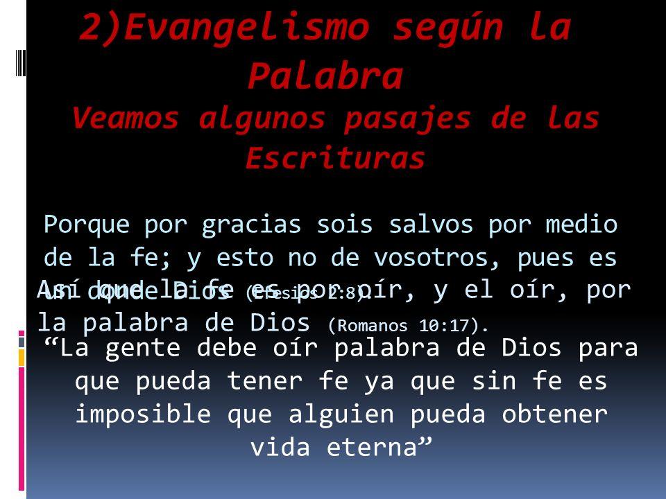 2)Evangelismo según la Palabra