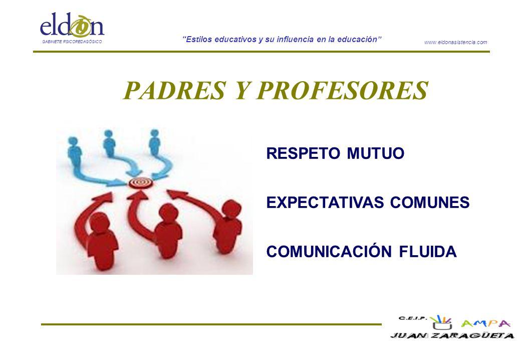 PADRES Y PROFESORES RESPETO MUTUO EXPECTATIVAS COMUNES