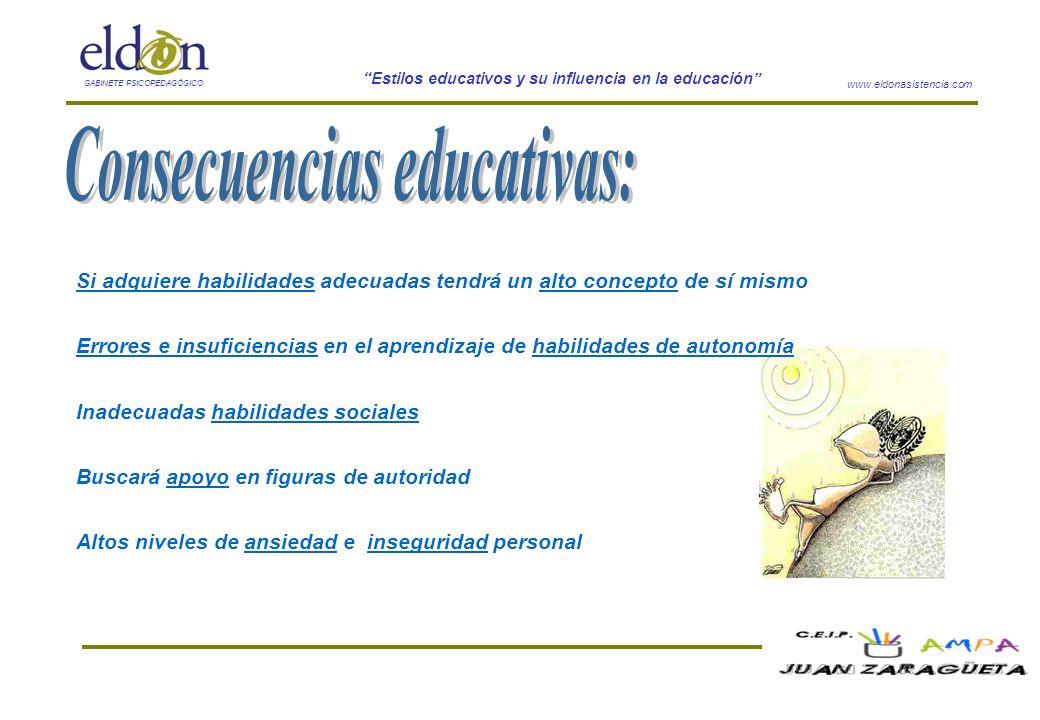 Consecuencias educativas: