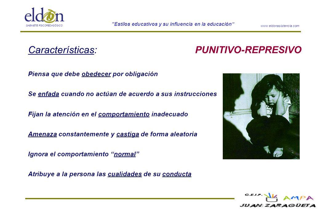 Características: PUNITIVO-REPRESIVO