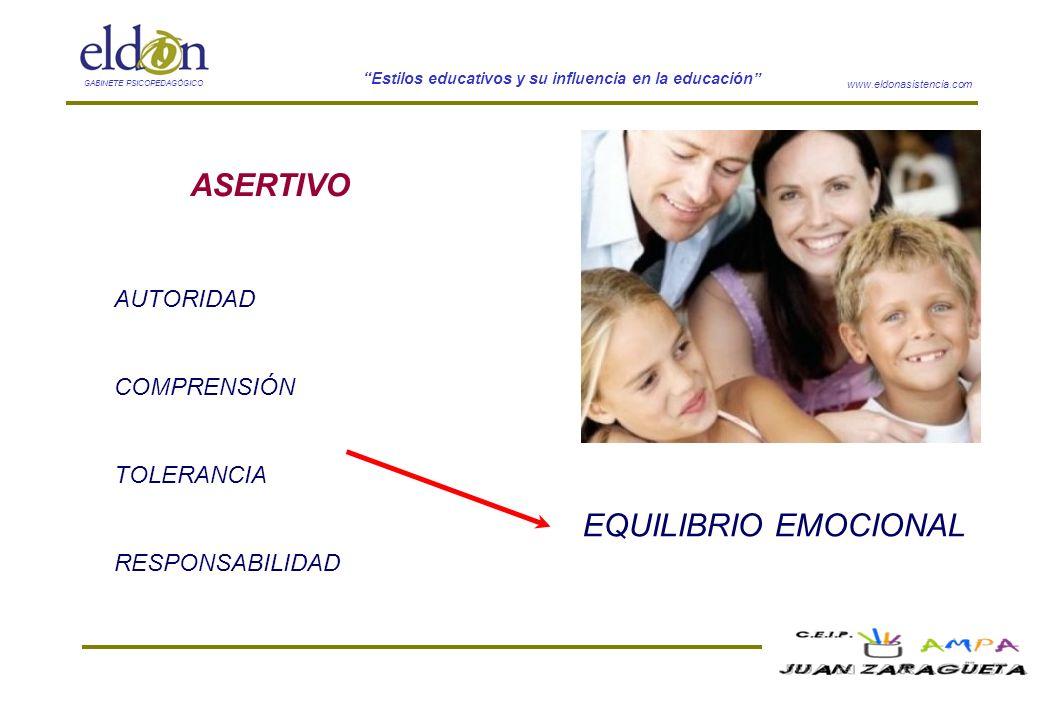 ASERTIVO EQUILIBRIO EMOCIONAL AUTORIDAD COMPRENSIÓN TOLERANCIA